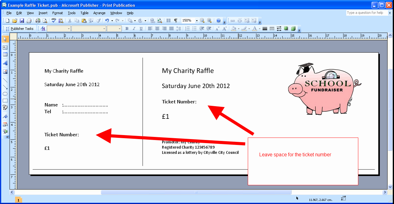 Raffle Ticket Template Excel Fresh Printable Numbered Raffle Tickets On Your Own Puter