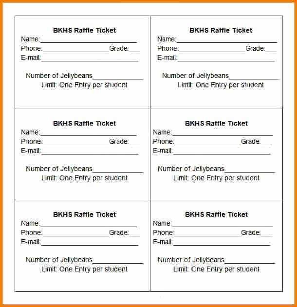 Raffle Ticket Template Excel Lovely Raffle Ticket Templates Authorization Letter Pdf