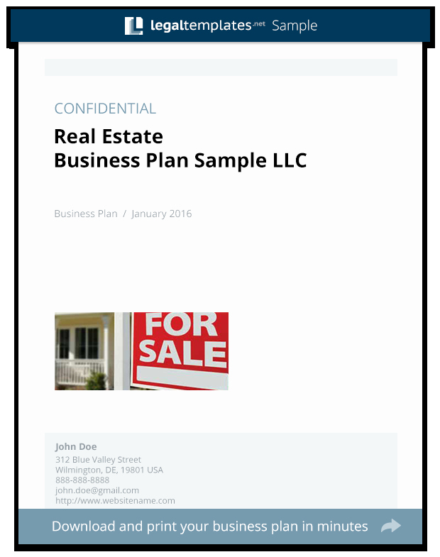 Real Estate Business Plan Template Beautiful Real Estate Business Plan Sample