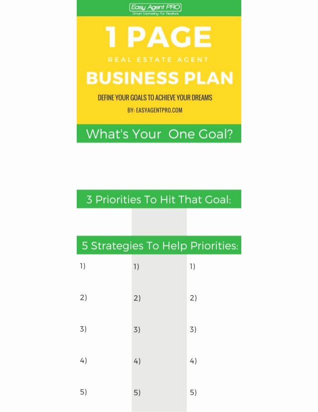 Real Estate Business Plan Template Best Of the E Page Real Estate Business Plan Template