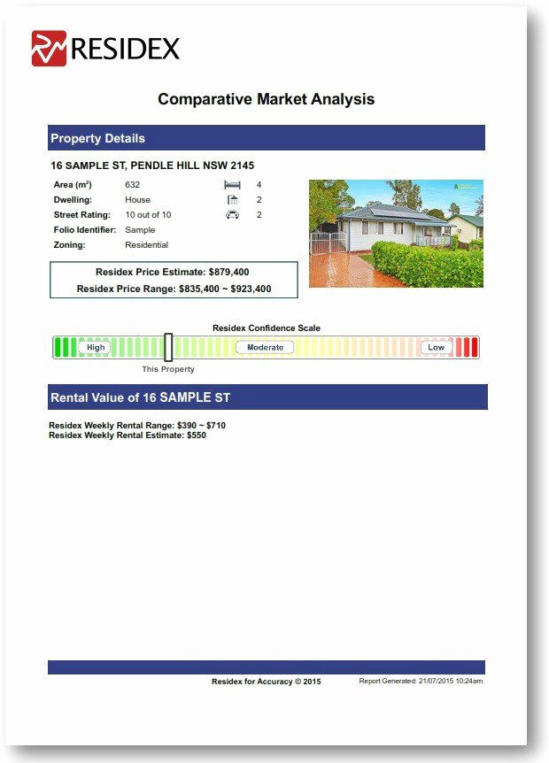 Real Estate Cma Template Beautiful Parative Market Analysis Report Residex