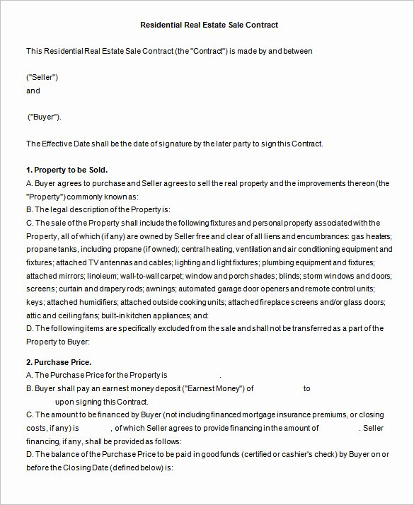 Real Estate Contract Template Awesome 14 Real Estate Contract Templates Word Pages Docs