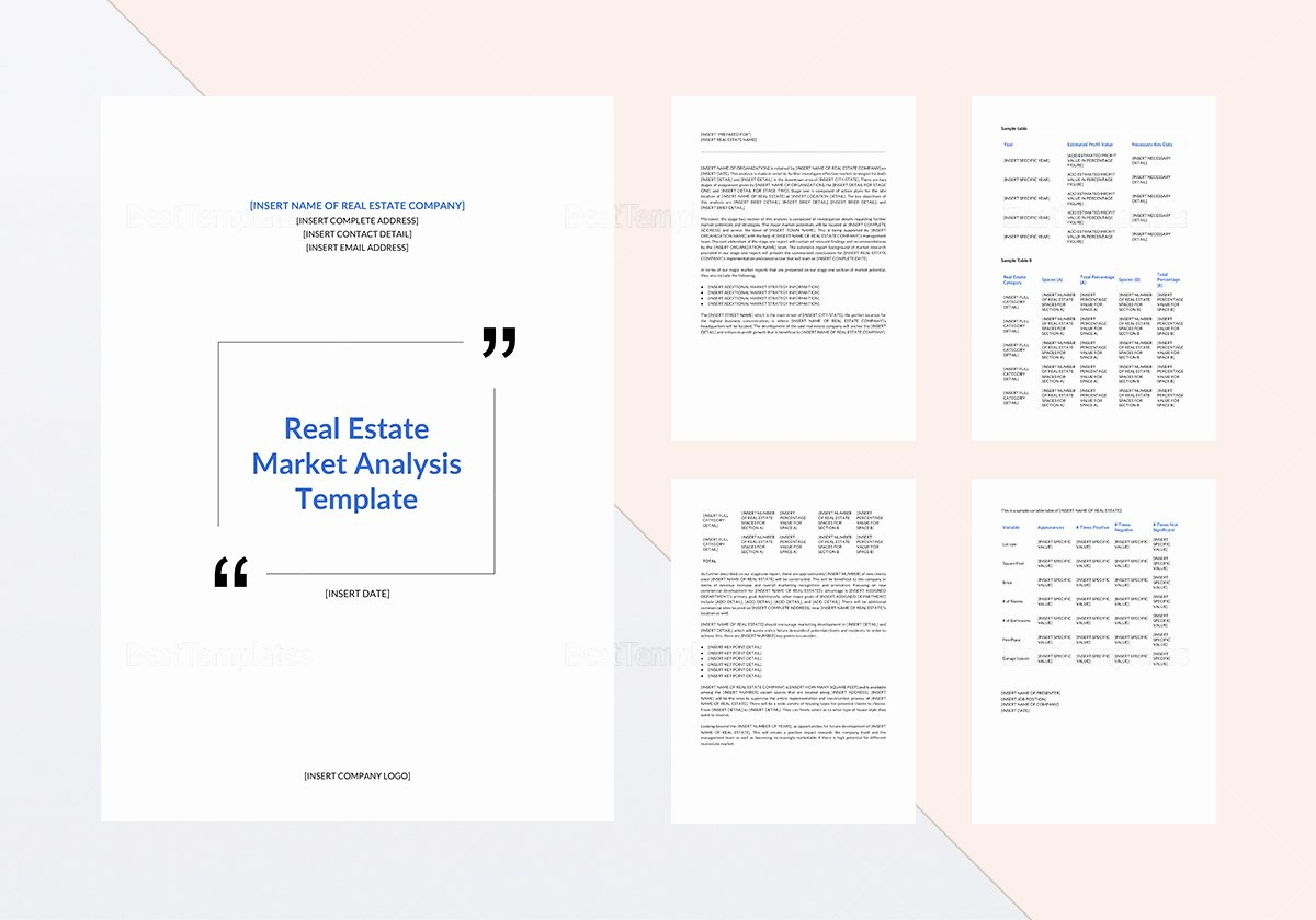 Real Estate Market Analysis Template Awesome Real Estate Market Analysis Template In Word Google Docs
