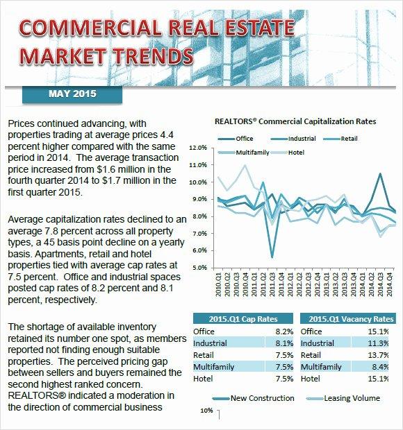 Real Estate Market Analysis Template Beautiful Sample Real Estate Market Analysis 8 Examples format
