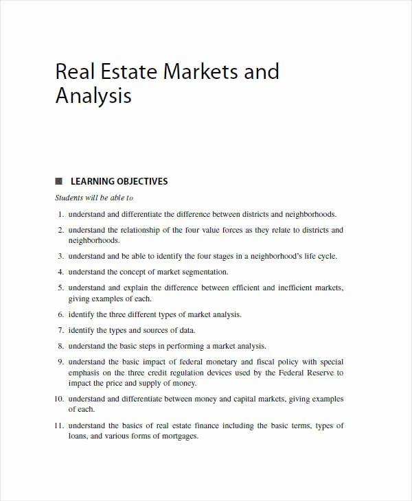 Real Estate Market Analysis Template Elegant 43 Analysis Samples Pdf Word Google Docs