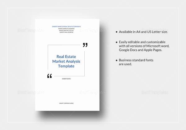 Real Estate Market Analysis Template Elegant Sample Real Estate Market Analysis Template 7 Free