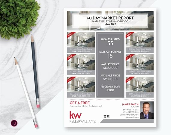 Real Estate Market Report Template Luxury Indesign Real Estate Market Update Flyer Template Real Estate