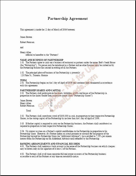 Real Estate Partnership Agreement Template Awesome 17 Best Images About Agreement Real
