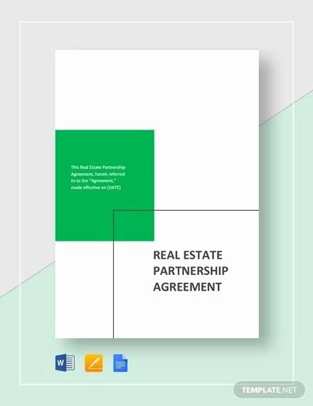 Real Estate Partnership Agreement Template Awesome Sample Real Estate Partnership Agreement 13 Free