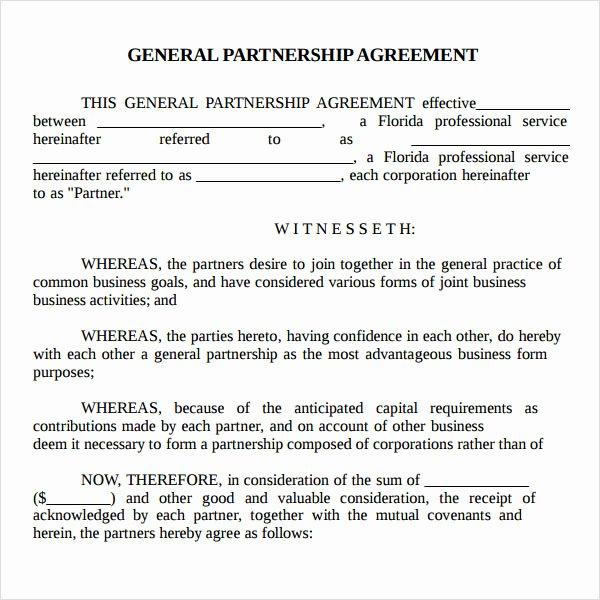 Real Estate Partnership Agreement Template Beautiful Partnership Agreement Sample