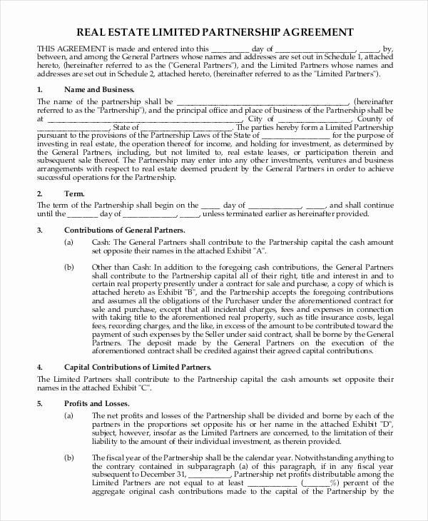Real Estate Partnership Agreement Template Elegant 13 Partnership Contract Templates Example Word Google