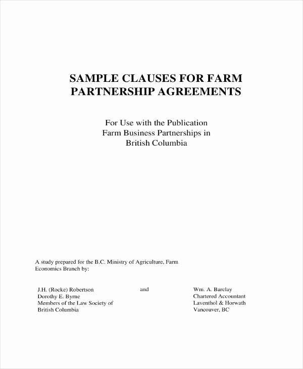 Real Estate Partnership Agreement Template Elegant Free 10 Real Estate Partnership Agreement Templates