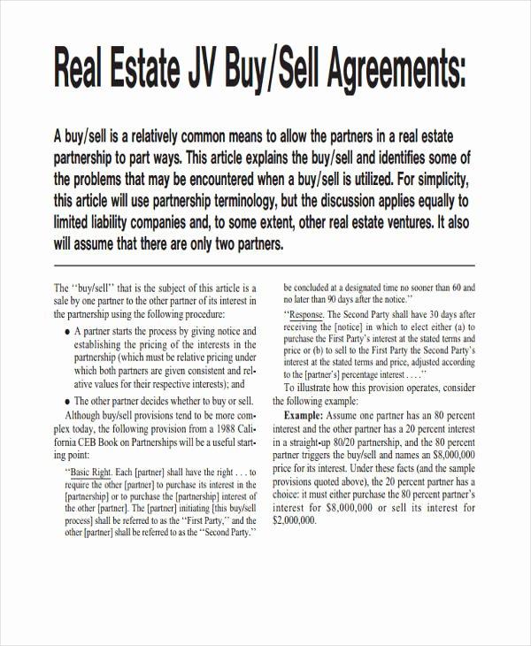 Real Estate Partnership Agreement Template Fresh Free 60 Partnership Agreement Examples & Samples In Pdf