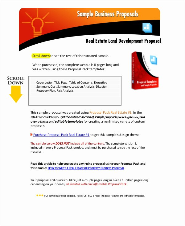 Real Estate Proposal Template Elegant 11 Development Project Proposal Templates Word Pdf