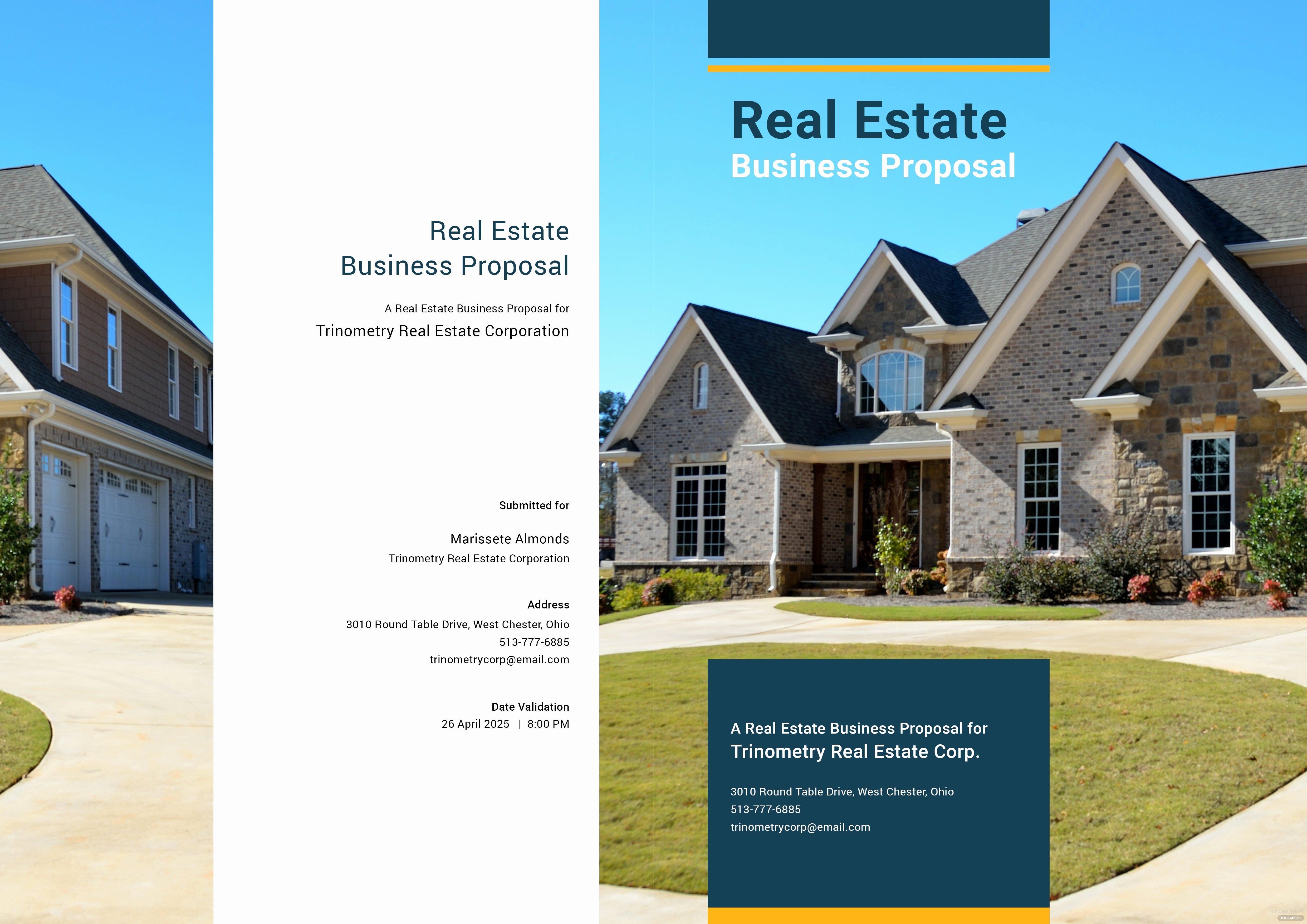 Real Estate Proposal Template Elegant Free Real Estate Business Proposal Template In Adobe