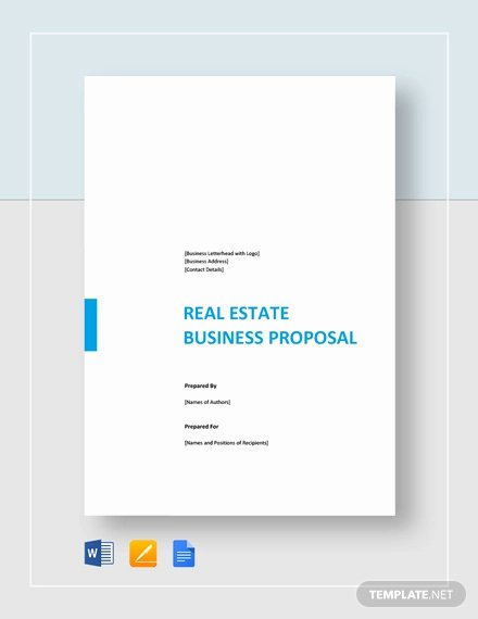 Real Estate Proposal Template New 13 Real Estate Business Proposal Templates Free Word