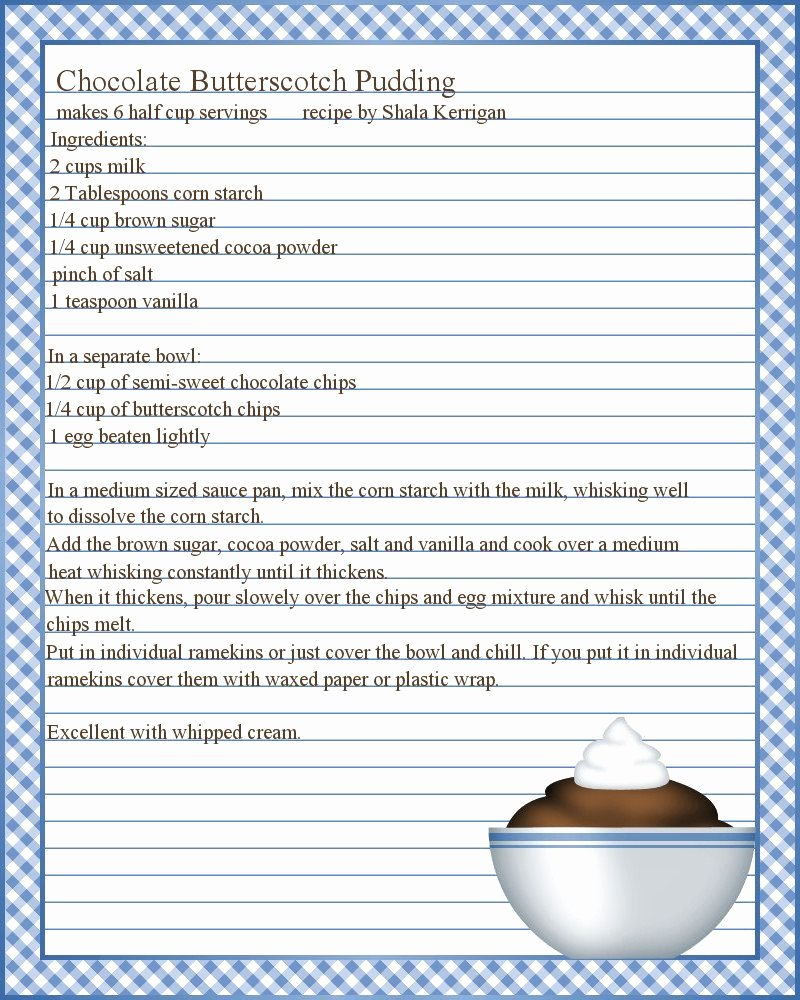 Recipe Card Template for Pages Best Of Full Page Recipe Templates Google Search
