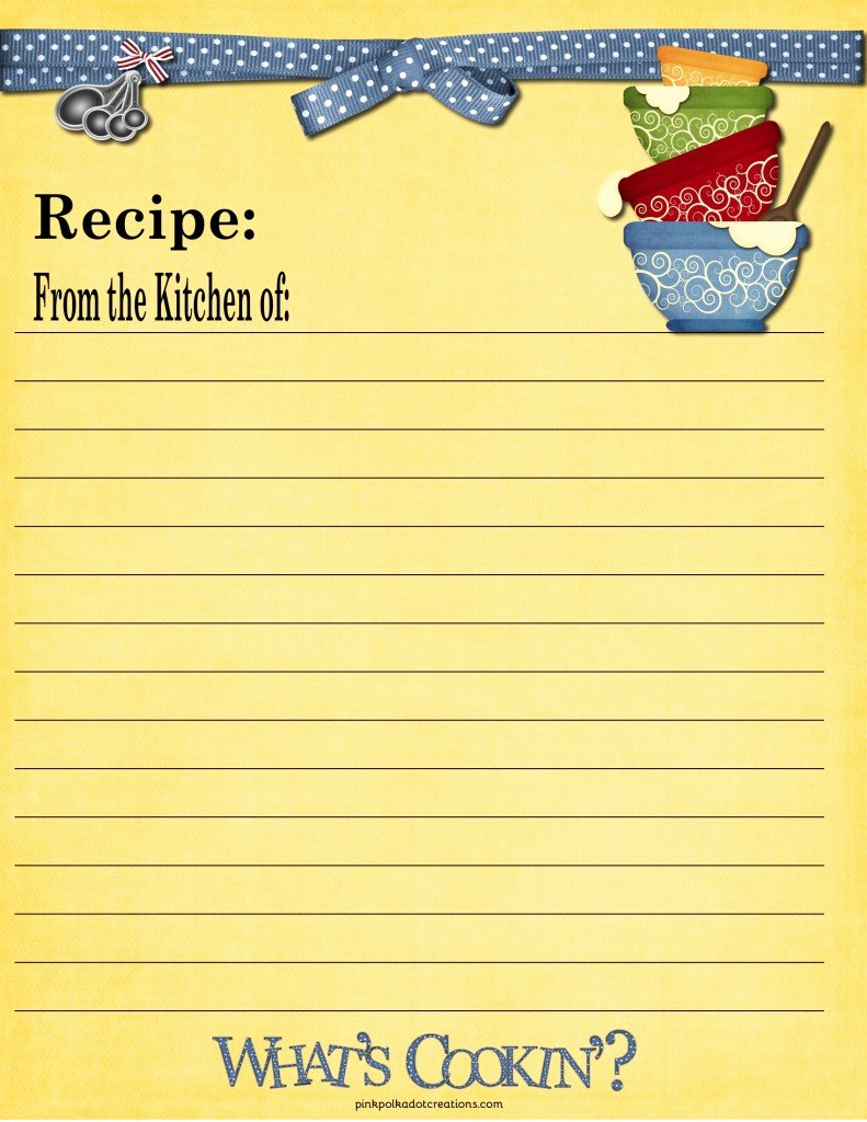 Recipe Card Template for Pages Best Of Recipe Cards Pink Polka Dot Creations