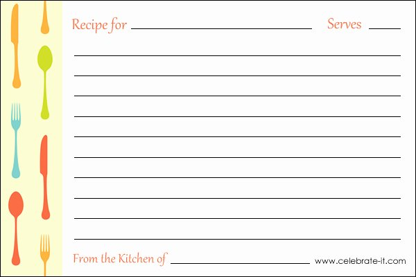 Recipe Card Template for Pages Lovely Printable Recipe Cards – Page 2 – Pour Tea and Coffee