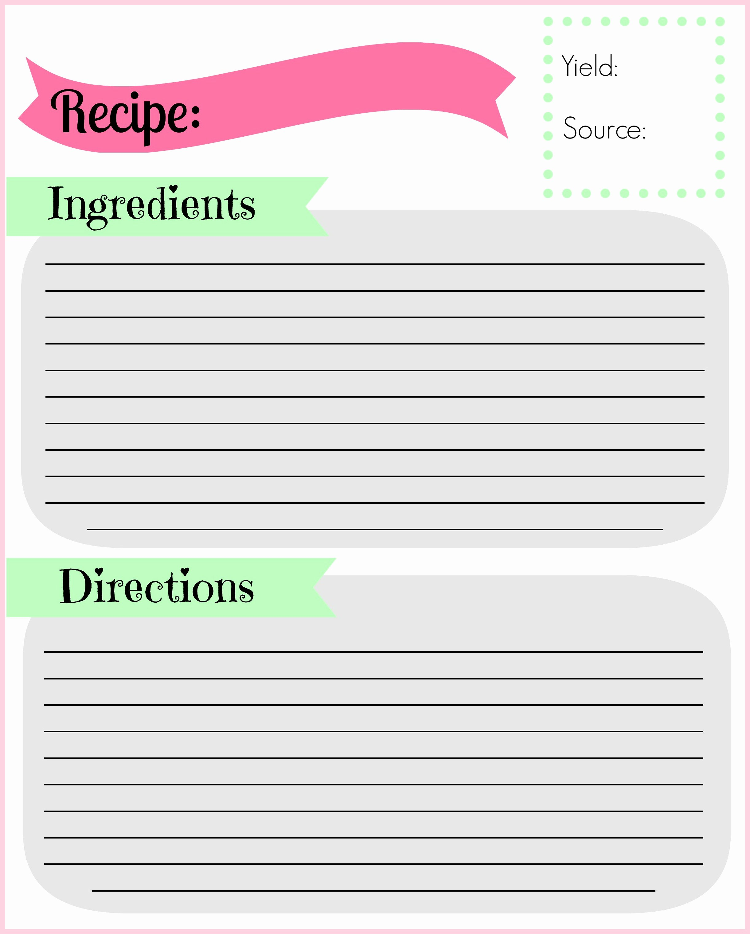 Recipe Card Template for Pages New Diy Recipe Binder