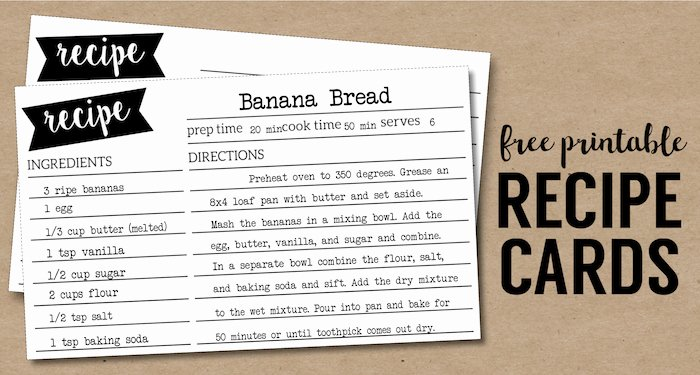 Recipe Card Template for Pages New Free Recipe Card Template Printable Paper Trail Design