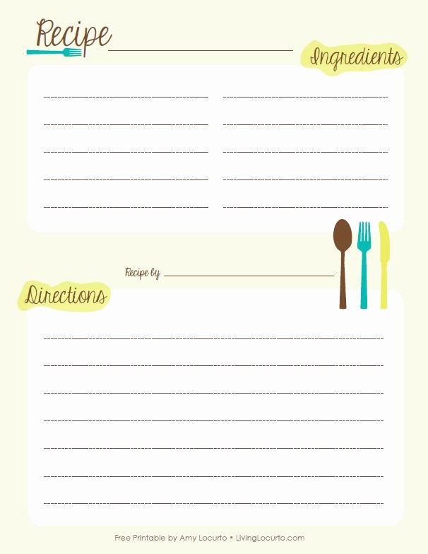 Recipe Card Template for Pages Unique 40 Best Images About Free Printable Recipe Pages On
