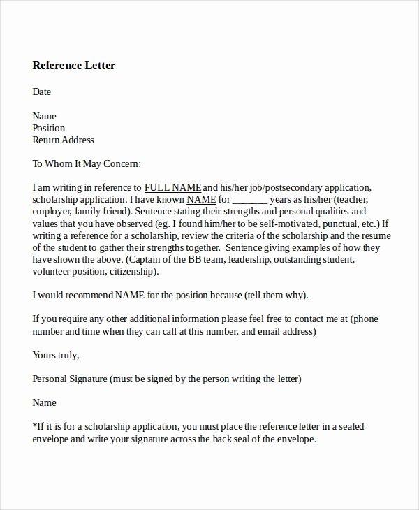 Recommendation Letter Template for Job Fresh 8 Reference Letter for Teacher Templates Free Sample