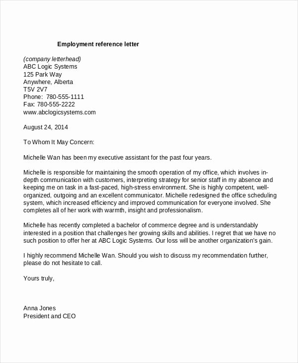 Recommendation Letter Template for Job Inspirational Template Reference Letter for Employee Google Search