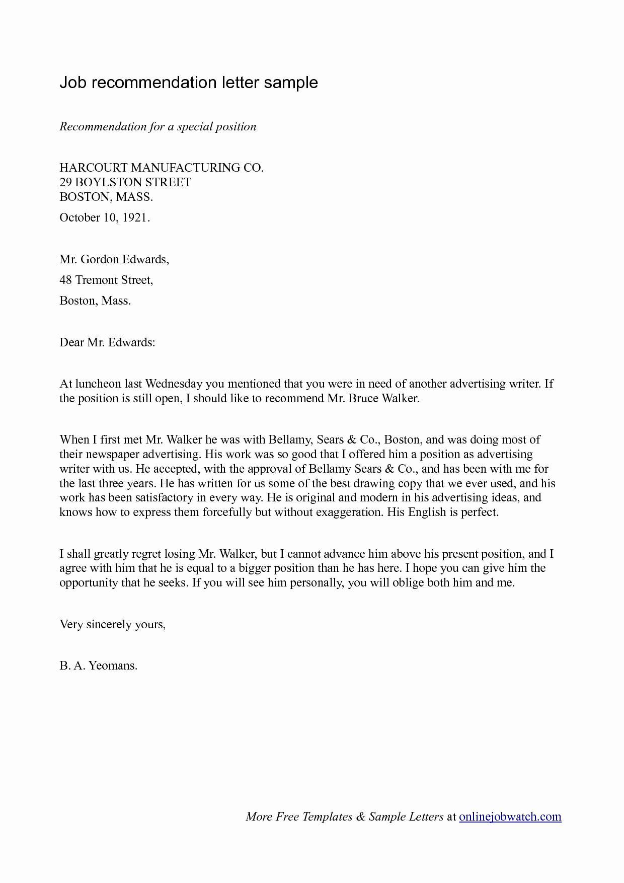 Recommendation Letter Template for Job Luxury Simple Guide Professional Reference Letter with Samples