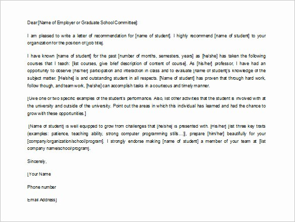 Recommendation Letter Template for Job New How to Write A Letter Of Re Mendation