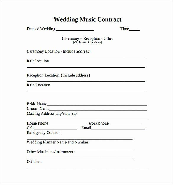 Recording Studio Contract Template Awesome Music Contract Template