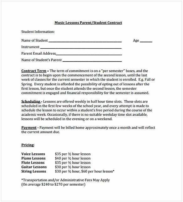 Recording Studio Contract Template Elegant Music Contract Template