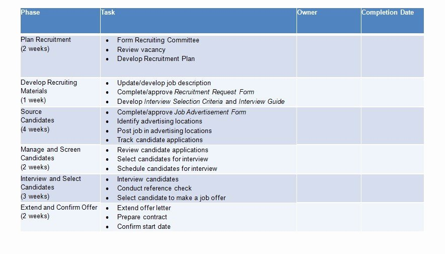 Recruitment Action Plan Template Beautiful 11 Recruitment Strategic Plan Examples Pdf