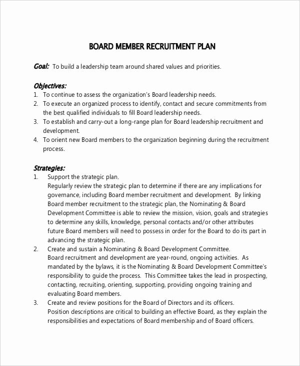 Recruitment Action Plan Template Beautiful Recruitment Plan Templates 12 Free Word Pdf format