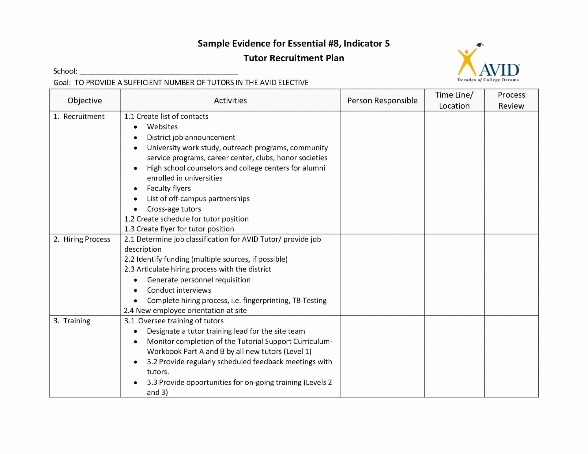 Recruitment Action Plan Template Elegant 019 Plan Template Recruiting Lovely Recruitment Strategy
