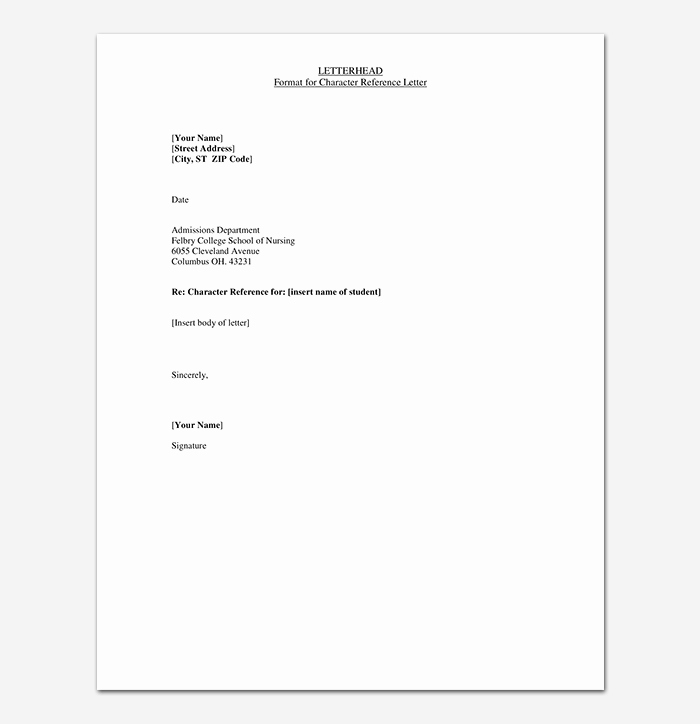 Reference Check Email Template Awesome Reference Letter Template 50 for Word & Pdf format