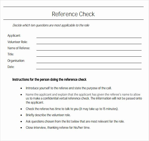 Reference Check Email Template Elegant Sample Reference Check Template 14 Free Documents In