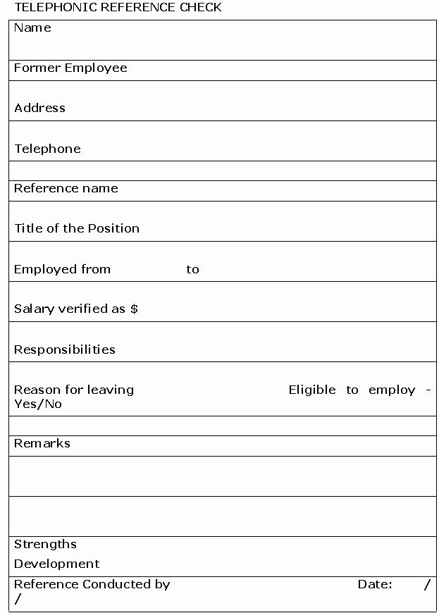 Reference Check form Template Elegant 28 Of Blank Credit Reference Template