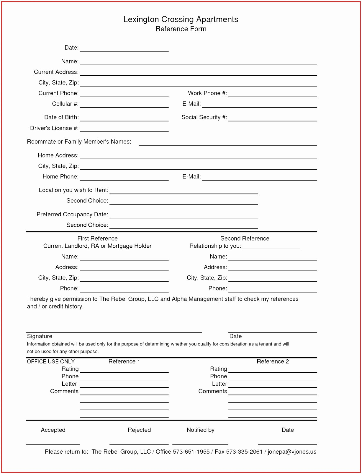 Reference Check form Template Lovely 7 Personal Reference Check form Template Auaoq