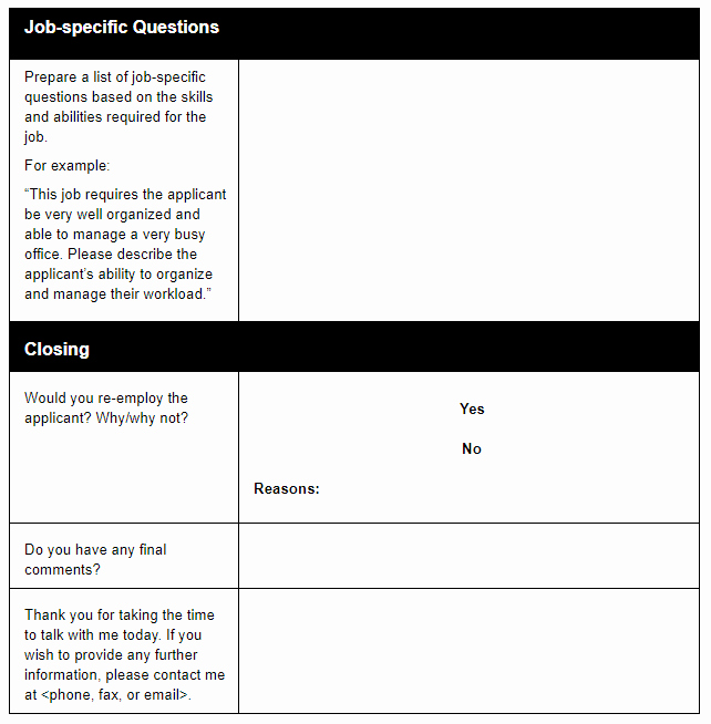 Reference Check form Template New A Manager S Guide to Using A Reference Check Template