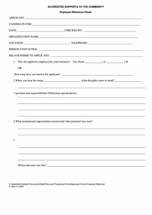 Reference Check form Template New Employee Reference Check Printable Pdf