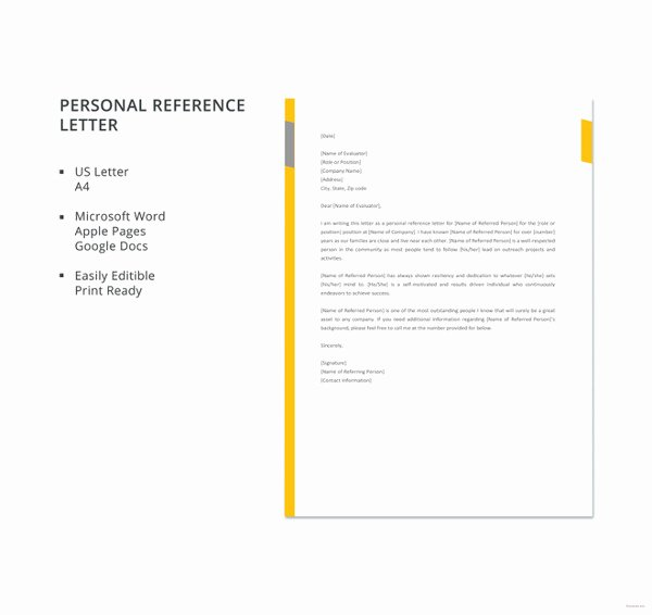 Reference Letters Templates Free Best Of 10 Sample Business Reference Letter Templates Pdf Doc