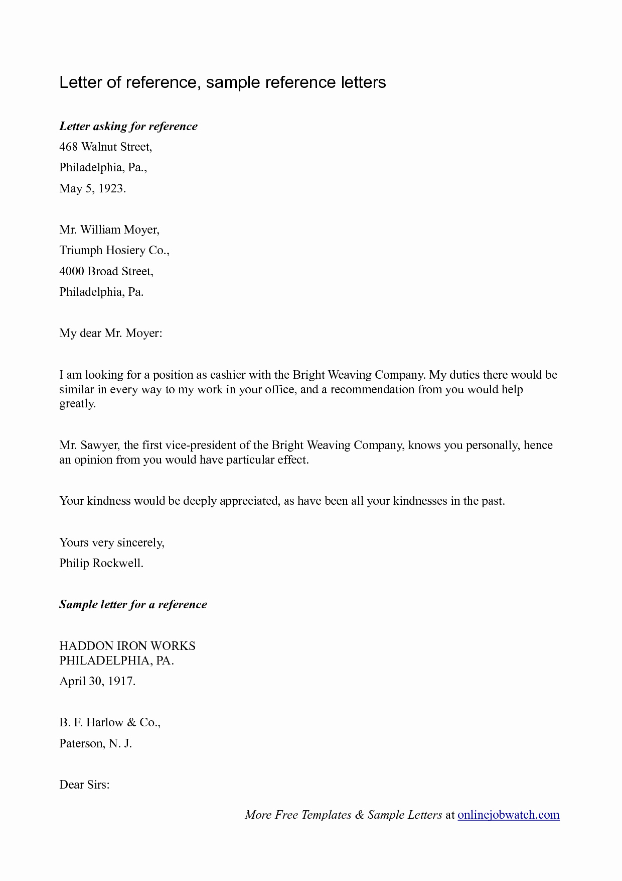 Reference Letters Templates Free Inspirational Sample Reference Letter Reference Letter Template for