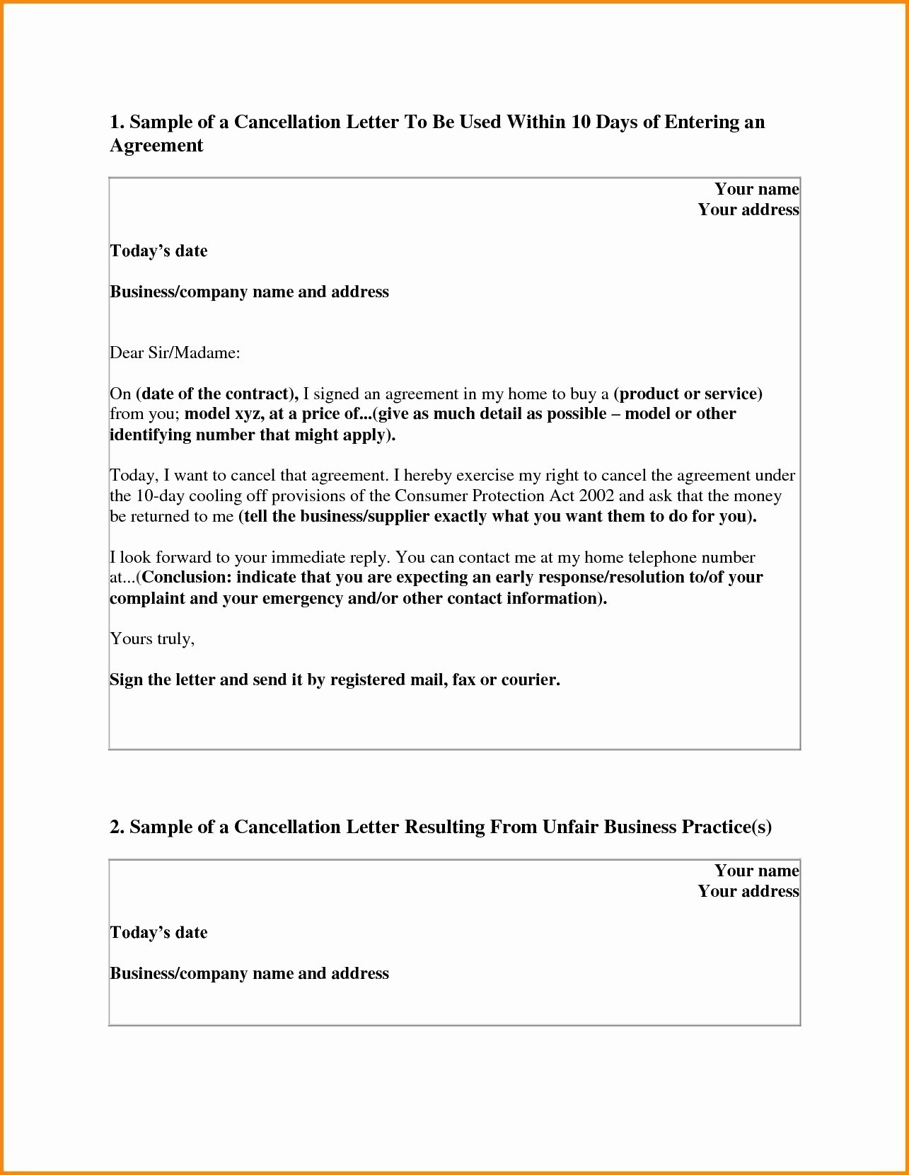 Refund Policy Template for Services Beautiful Timeshare Rescission Letter Template Samples