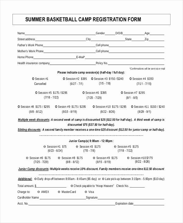 Registration forms Template Word Elegant Baseball Registration form Template Word Templates