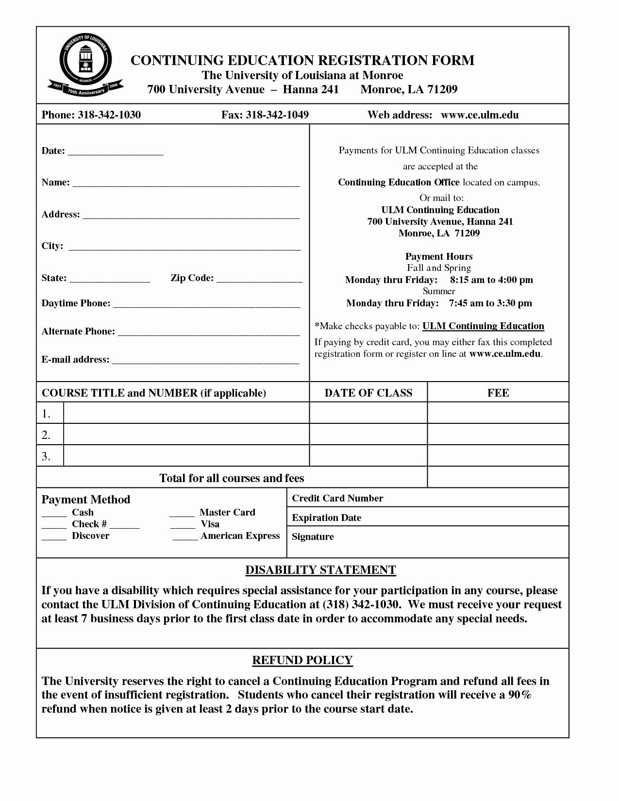 Registration forms Template Word Elegant Registration form Template Word
