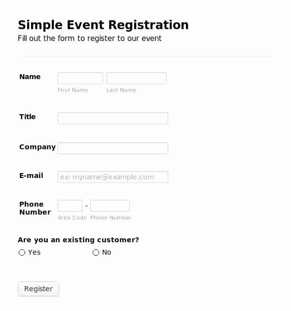 Registration forms Template Word Unique Printable Registration form Templates Word Excel Samples