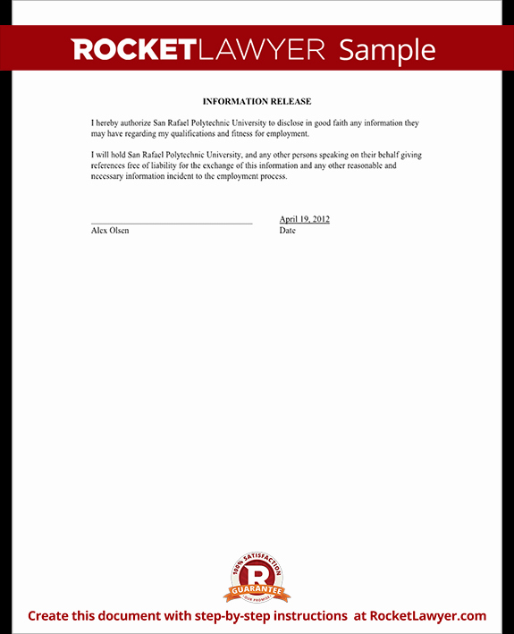 Release Of Information form Template Best Of Release Of Information form Template with Sample