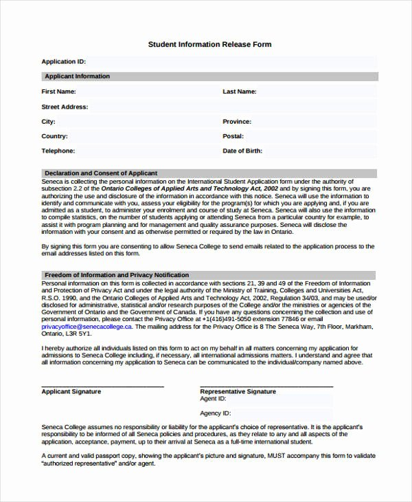 Release Of Information form Template New Free 23 Patient Release form In Template