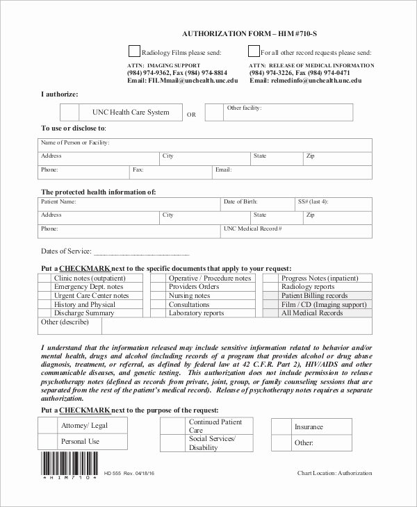 Release Of Information forms Template Fresh Sample Release Of Information form 9 Examples In Word Pdf